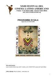 XXIII FESTIVAL DEL CINEMA LATINO AMERICANO