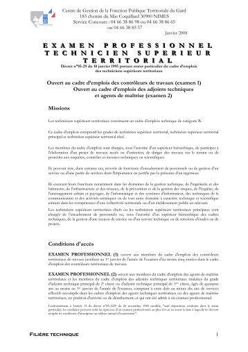 L 39 examen professionnel d 39 adjoint technique de 1 re classe - Grille indiciaire technicien principal 2eme classe ...