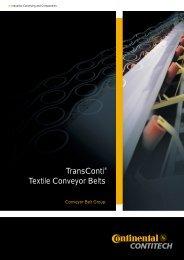 TransConti® textile conveyor belts - f.metal-supply.dk