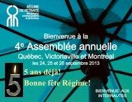 Présentation 4e assemblée annuelle (.pdf) - Régime de retraite des ...