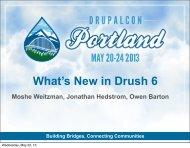 What's New in Drush 6 - DrupalCon Portland 2013