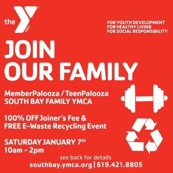 JOIN OUR FAMILY - South Bay Family YMCA