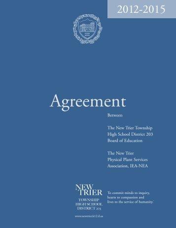 NTPPSA Agreement 2012-2015 - New Trier Township High School