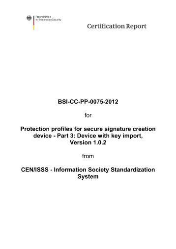 BSI-CC-PP-0075 - Bundesamt für Sicherheit in der Informationstechnik