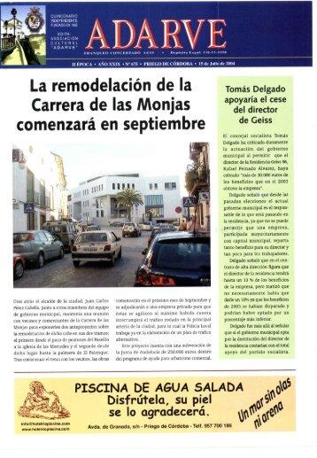 La remodelación de la Carrera de las Monjas ... - Periódico Adarve