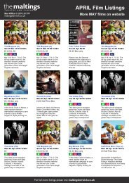 APRIL Film Listings More MAY films on website - The Maltings