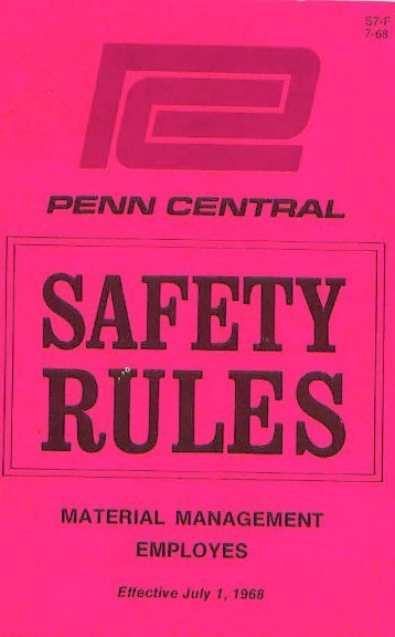 Safety Rulebook for Materials Management Employees