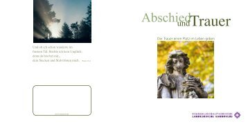 Broschüre Abschied und Trauer - Landeskirche Hannovers