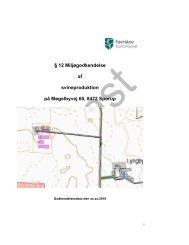 § 12 Miljøgodkendelse af svineproduktion på Møgelbyvej 60, 8472 ...