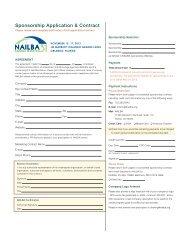 2012 Sponsorship Contract - Nailba