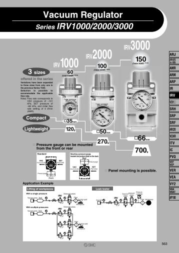 IRV1000 IRV2000 IRV3000 - SMC