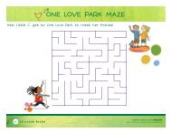 ONE LOVE PARK MAZE - Chronicle Books