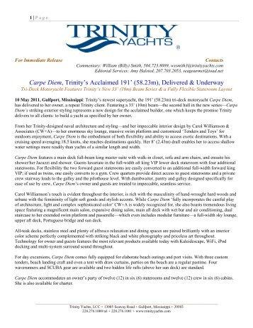 Carpe Diem, Trinity's Acclaimed 191' (58.23m ... - Trinity Yachts
