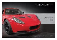 Product overview - Mansory