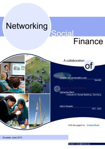 Introduction: Networking Social Finance - Institute for Social Banking