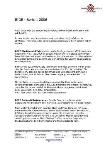 BIGE - Bericht 2006 - Bundesinitiative Großeltern