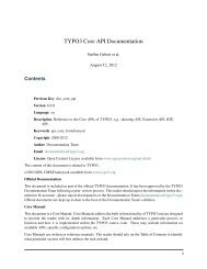TYPO3 Core API Documentation - TYPO3 Forge