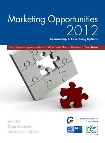 Marketing Opportunities 2012 - Ahks