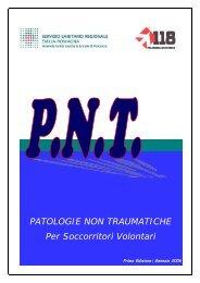 PATOLOGIE NON TRAUMATICHE Per Soccorritori Volontari