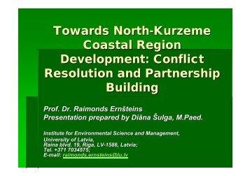 Towards North-Kurzeme Coastal Region Development - About Project