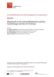 Megatrends und ihre Auswirkungen auf den AC Centrope