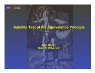 Satellite Test of the Equivalence Principle - Gravity Probe B ...