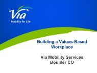 Building a Values-Based Workplace Via Mobility Services Boulder CO