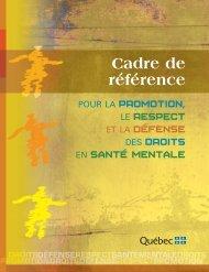 Cadre de référence pour la promotion, le respect et la défense des ...