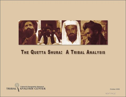 THE QUETTA SHURA: A TRIBAL ANALYSIS - Tribal Analysis Center