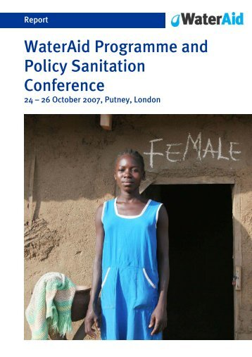 WaterAid Programme and Policy Sanitation Conference