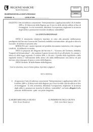 DELIBERAZIONE DELLA GIUNTA REGIONALE 1991/2009 del 24 ...