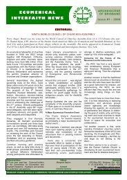 ECUMENICAL INTERFAITH NEWS - Archdiocese of Brisbane