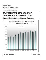 state central repository of criminal justice information - Alaska ...