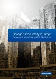 MU Insight Survey 2012 Change and Productivity
