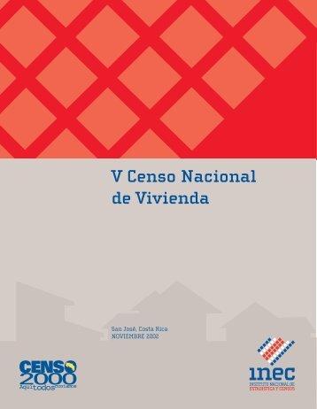 V Censo Nacional de Vivienda - INEC Instituto Nacional de ...