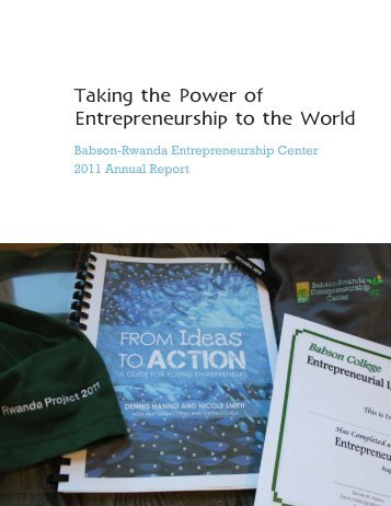 BREC 2011 Annual Report (pdf) - Babson College