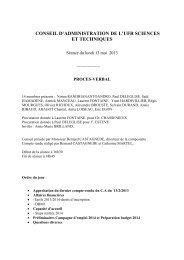 CA DU 13 MAI 2013 - Faculté des Sciences et Techniques ...