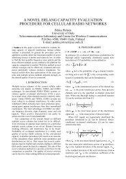 A Novel Erlang Capacity Evaluation Procedure for Cellular - Oulu