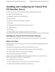 Installing and Configuring the Natural Web I/O Interface Server