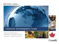 Citizenship and Immigration Canada Presentation - Windsor Essex ...