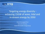 Targeting energy diversity - achieving 15GW of wave, tidal - Marine ...