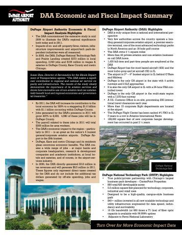 DAA Economic and Fiscal Impact Summary - DuPage Airport