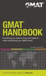 GMAT HAndbook - Kansas State University