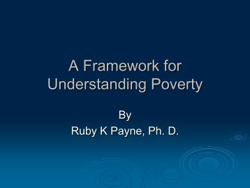 a framework for Understanding Poverty - Ware County School System