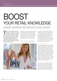 YOUR RETAIL KNOWLEDGE - Business Franchise Magazine