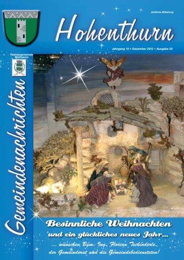 Besinnliche Weihnachten - Gemeinde Hohenthurn