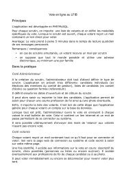 Principes Dans la pratique - Fapee.com