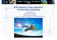 XMM-Newton Cross-Calibration - Trainee Project - ESA