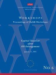 Workshops No. 6 - Oesterreichische Nationalbank