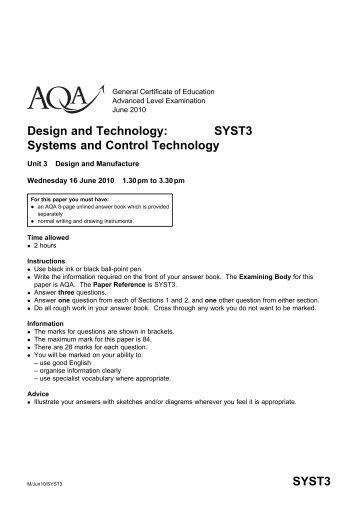 Unit 3 Question Paper 2010 - Linux.bideford.devon.sch.uk